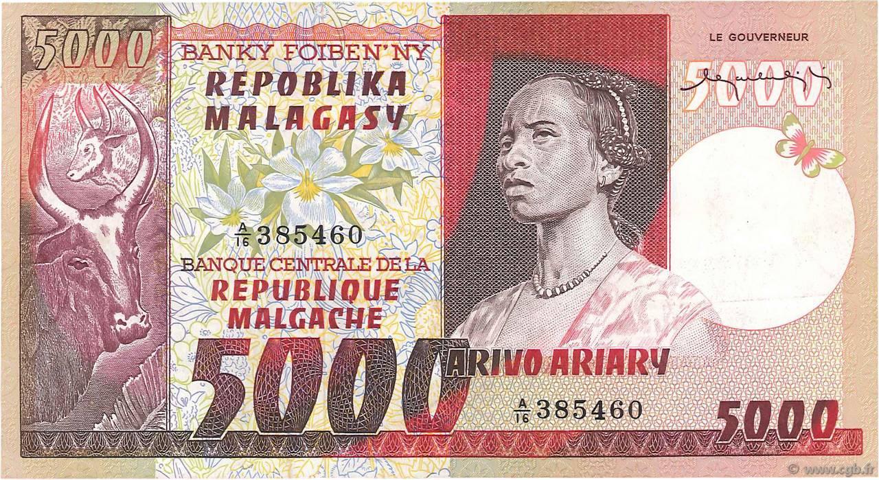 billet de banque madagascar